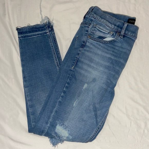 Light wash ripped jeans from express